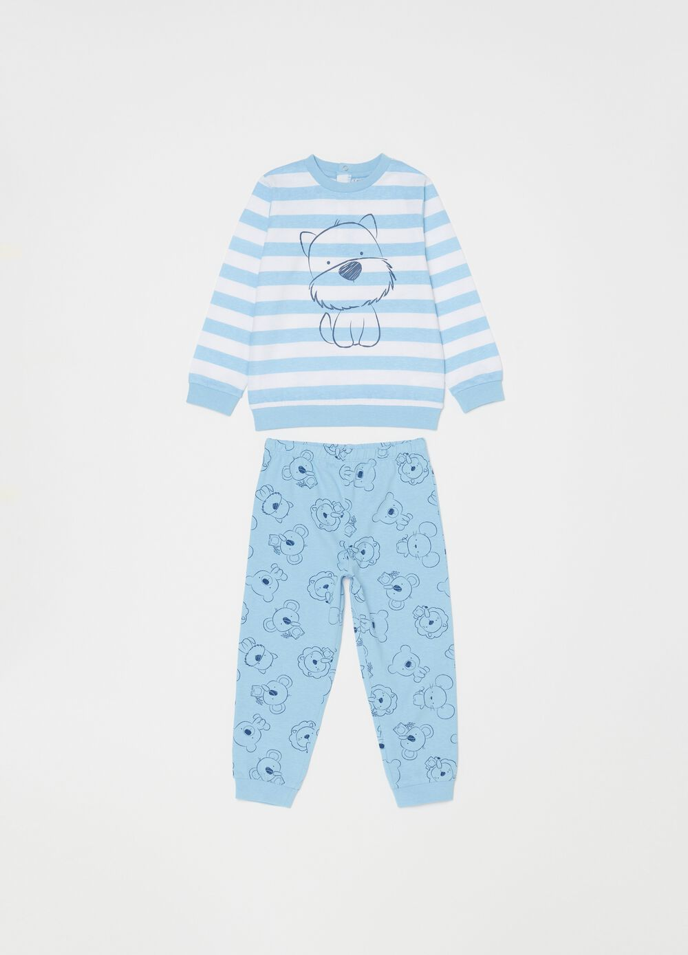 Animal pyjamas in 100% organic cotton