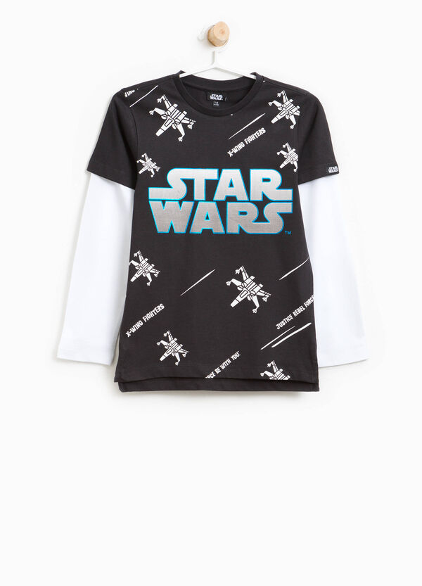 Cotton T-shirt with Star Wars print | OVS