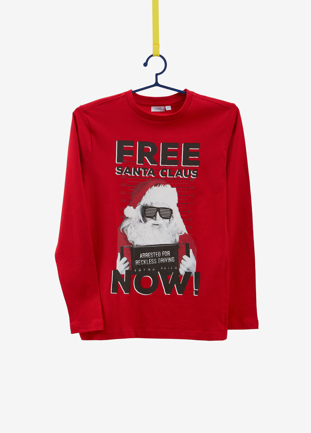 Long-sleeved Father Christmas T-shirt