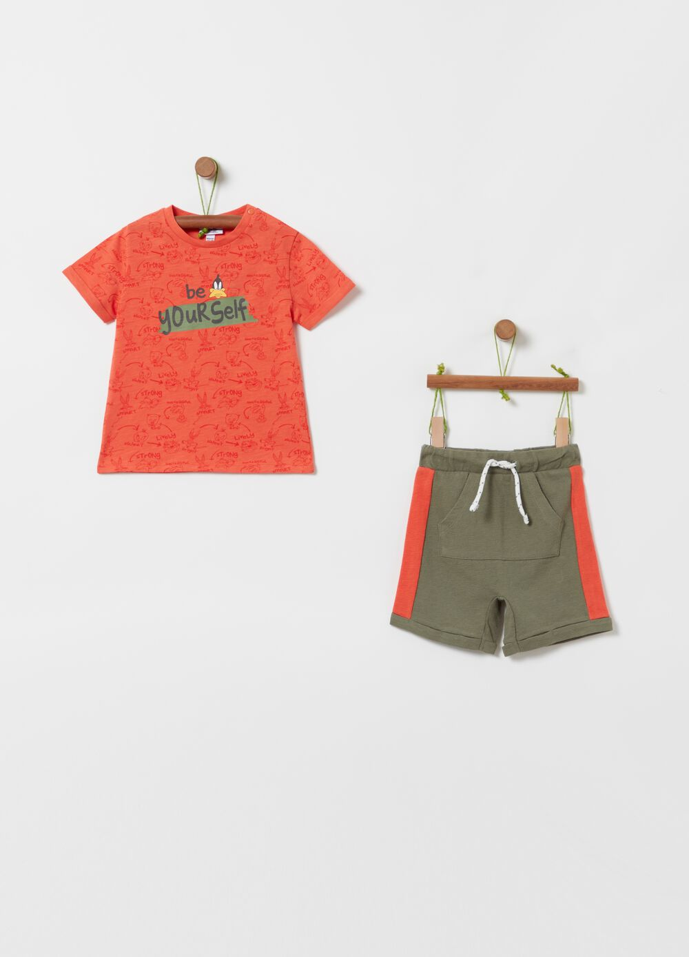 Looney Tunes Duffy Duck jogging set