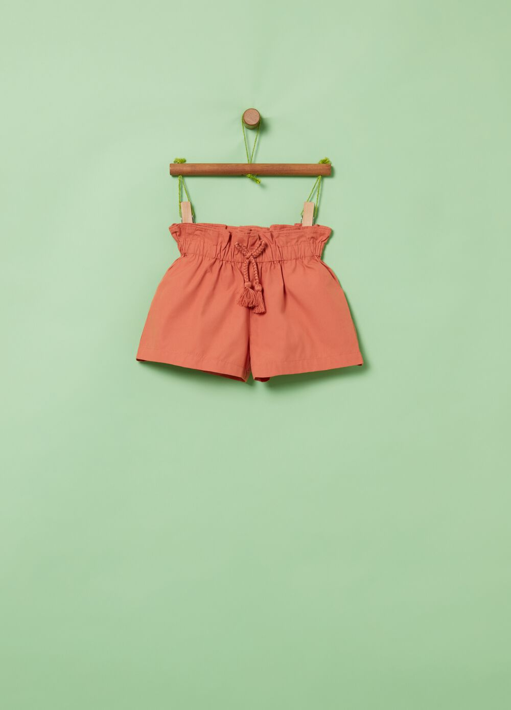 Solid colour shorts with tassels