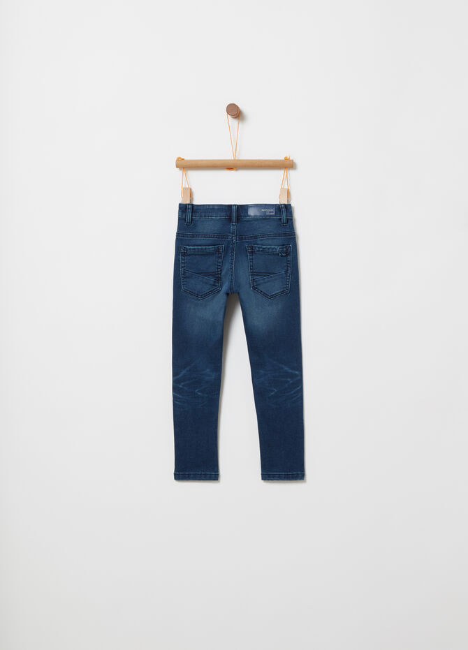 Slim-fit stretch denim jeans with five pockets