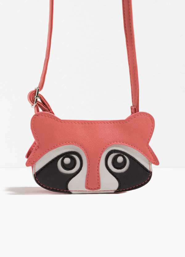 Shoulder bag with animal patch