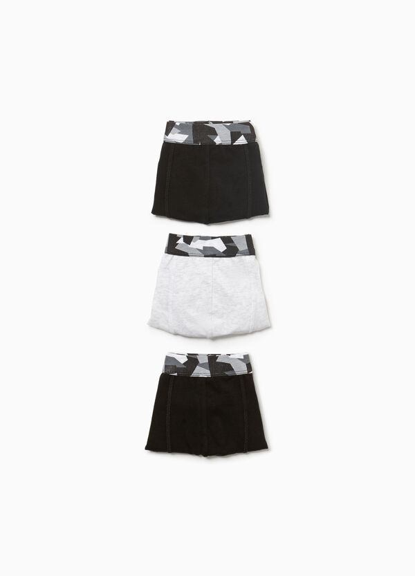 Three-pack camouflage stretch boxer shorts