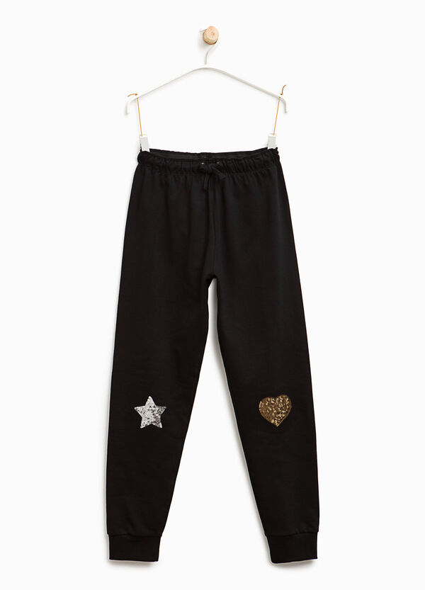 Joggers with sequins | OVS