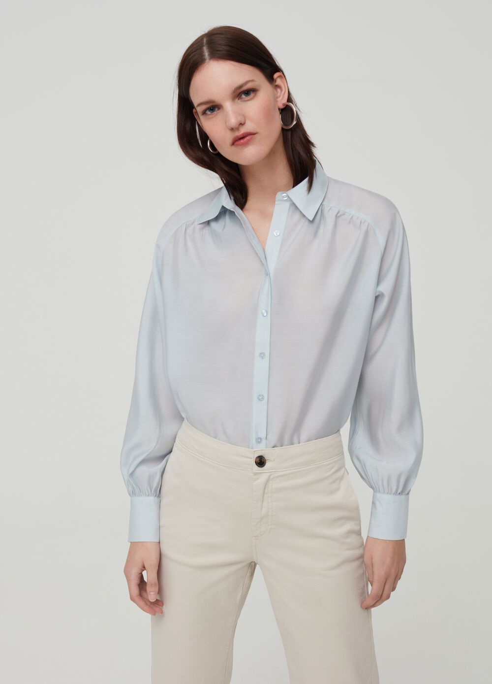 Solid colour Lyocell shirt