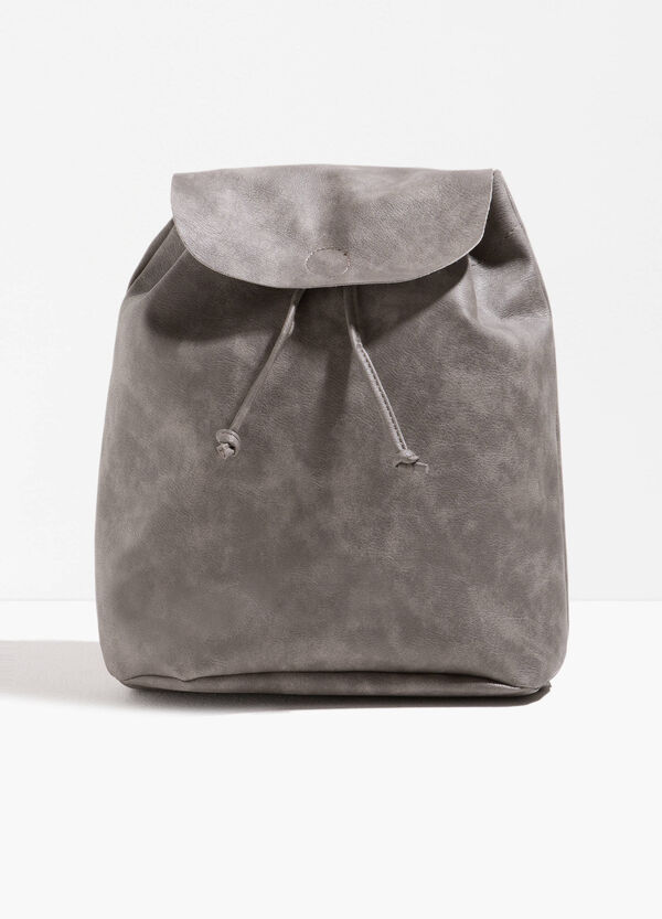 Solid colour textured backpack | OVS