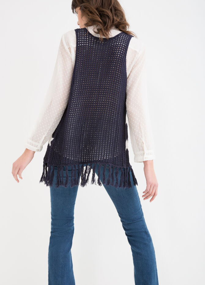Knitted waistcoat with star pattern