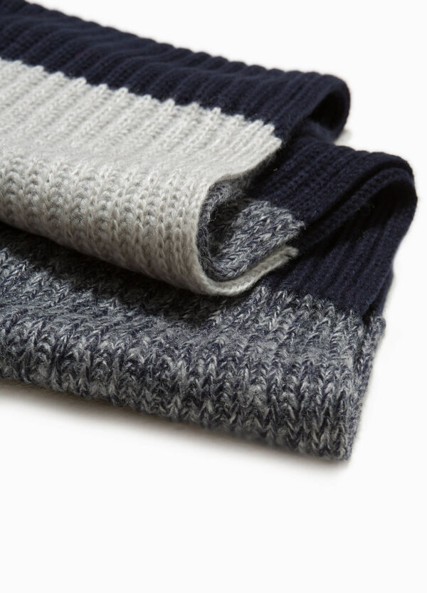 Knitted striped scarf | OVS