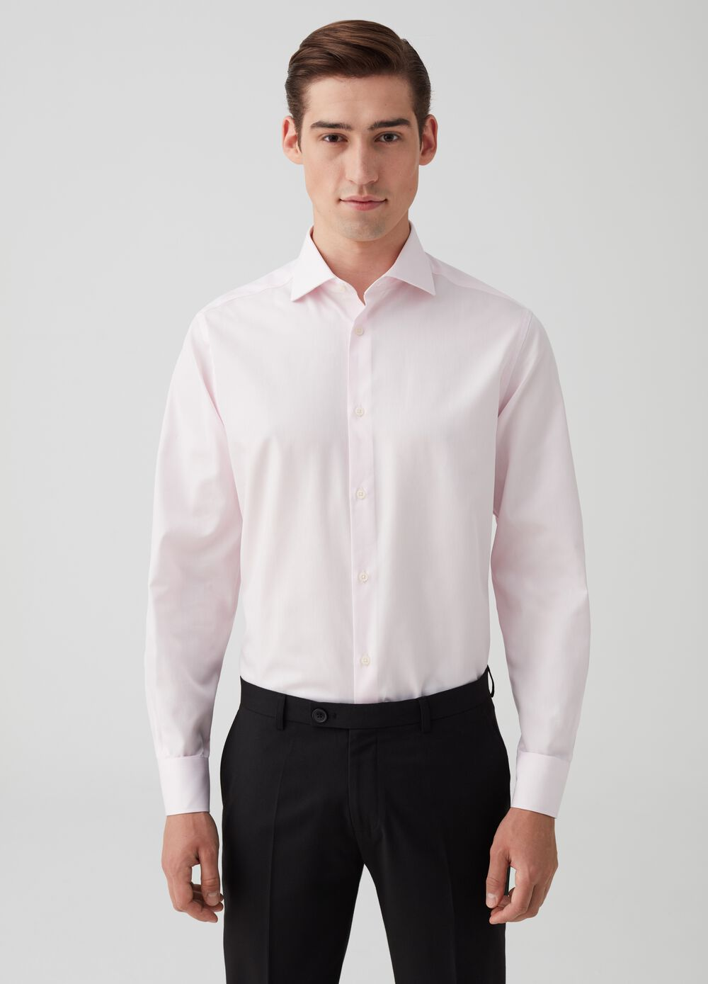 Regular-fit shirt in 100% cotton