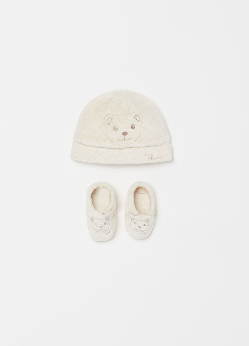 Thun Teddy Hat And Shoes Set Ovs Es