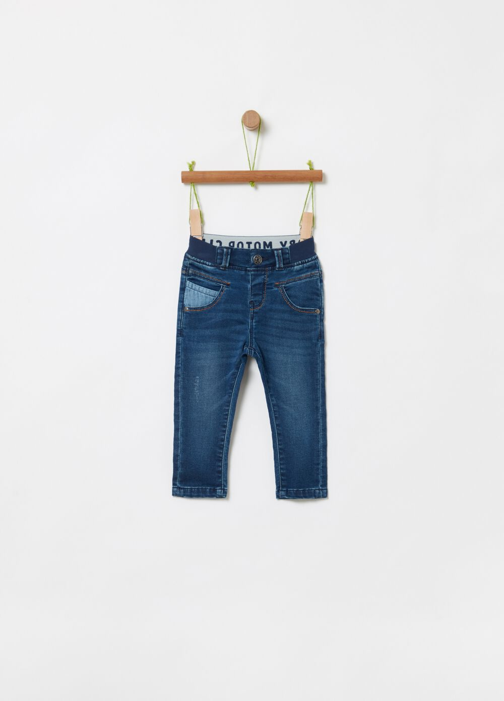 Regular-fit jeans in stretch organic cotton