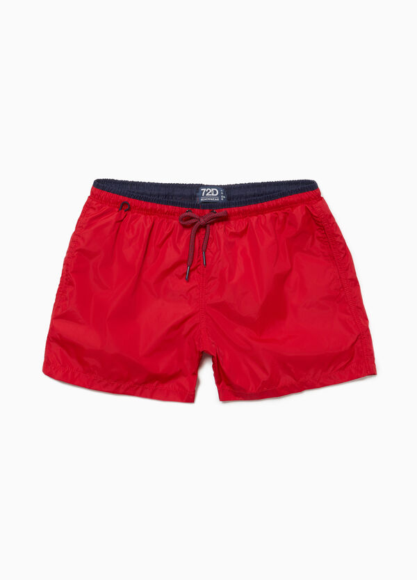 Beach shorts with drawstring