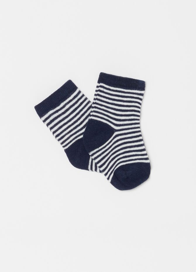 Two-pair pack geometric and striped socks