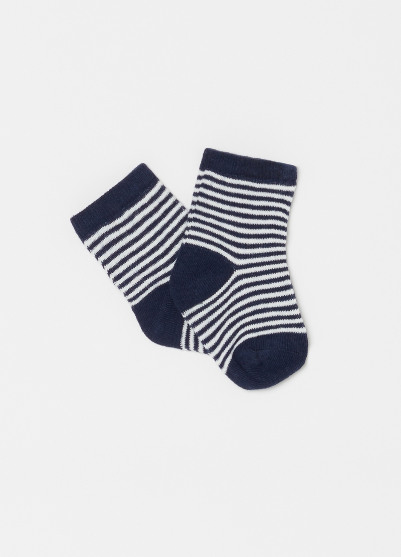 Two-pair pack geometric and striped socks image number null