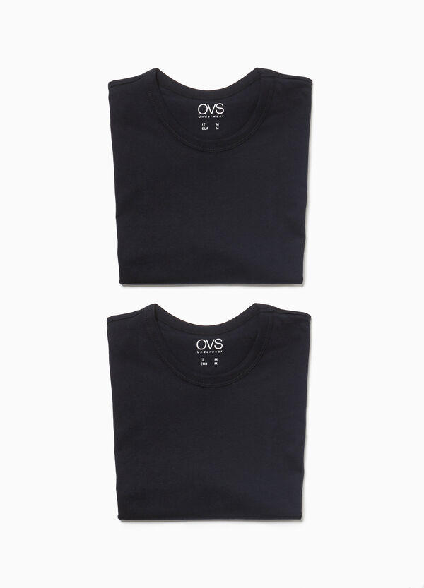 Two-pack cotton jersey undershirts