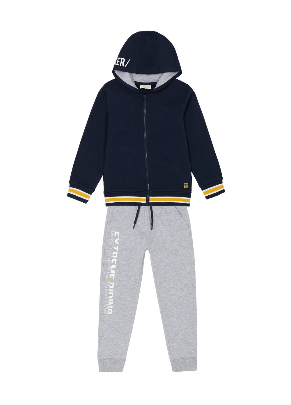 Lettering sweatshirt and trousers jogging set