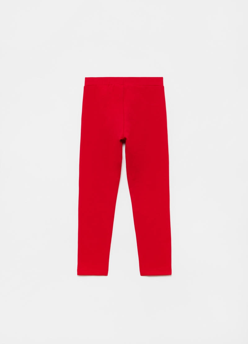 Solid colour stretch treggings image number null