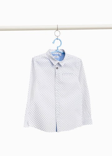 Little stars print shirt in 100% cotton