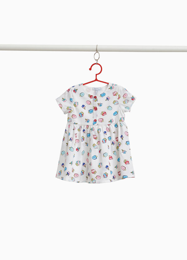 Dress with buttons and desserts print