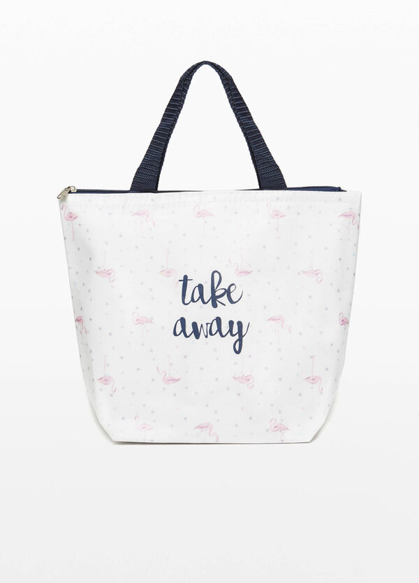 Lunch box with zip and print