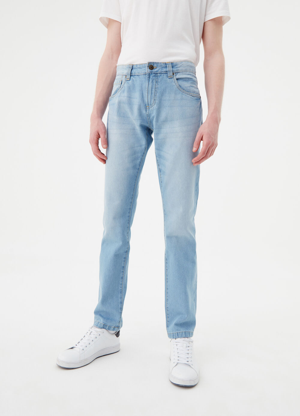 Five-pocket, straight-fit jeans