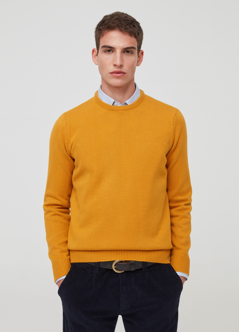 Solid colour pullover with round neck image number null
