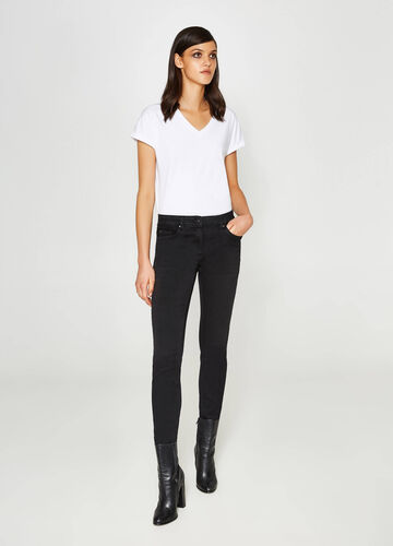 Slim-fit stretch jeans with lace
