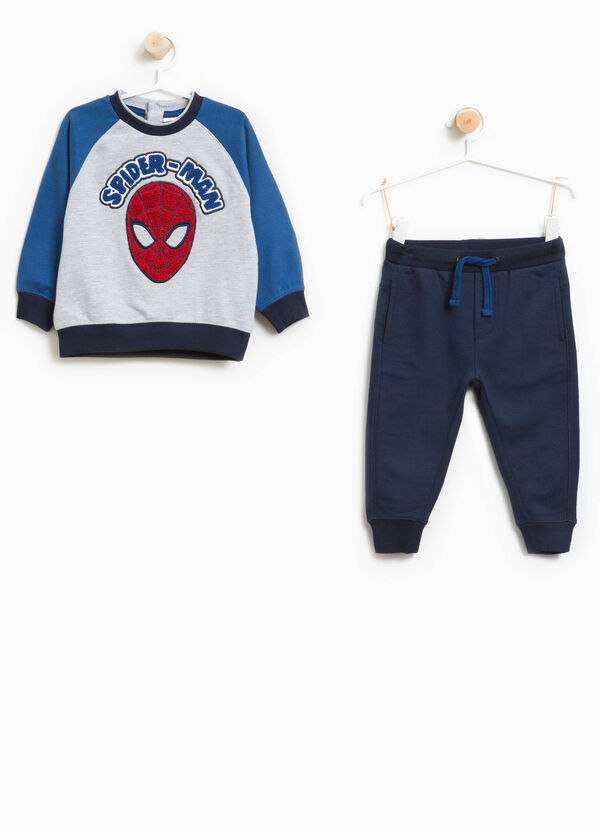 Tracksuit in 100% cotton with Spiderman patch | OVS