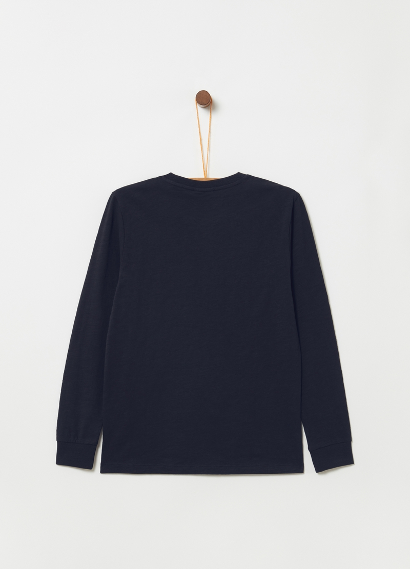 Long-sleeved T-shirt in ribbed cotton image number null