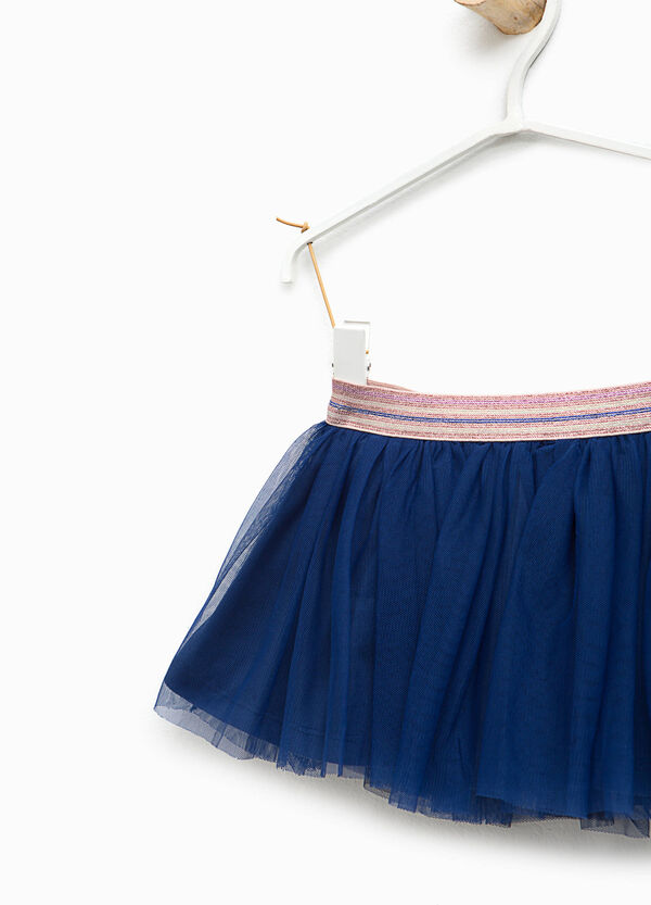 Tulle skirt with striped waist | OVS
