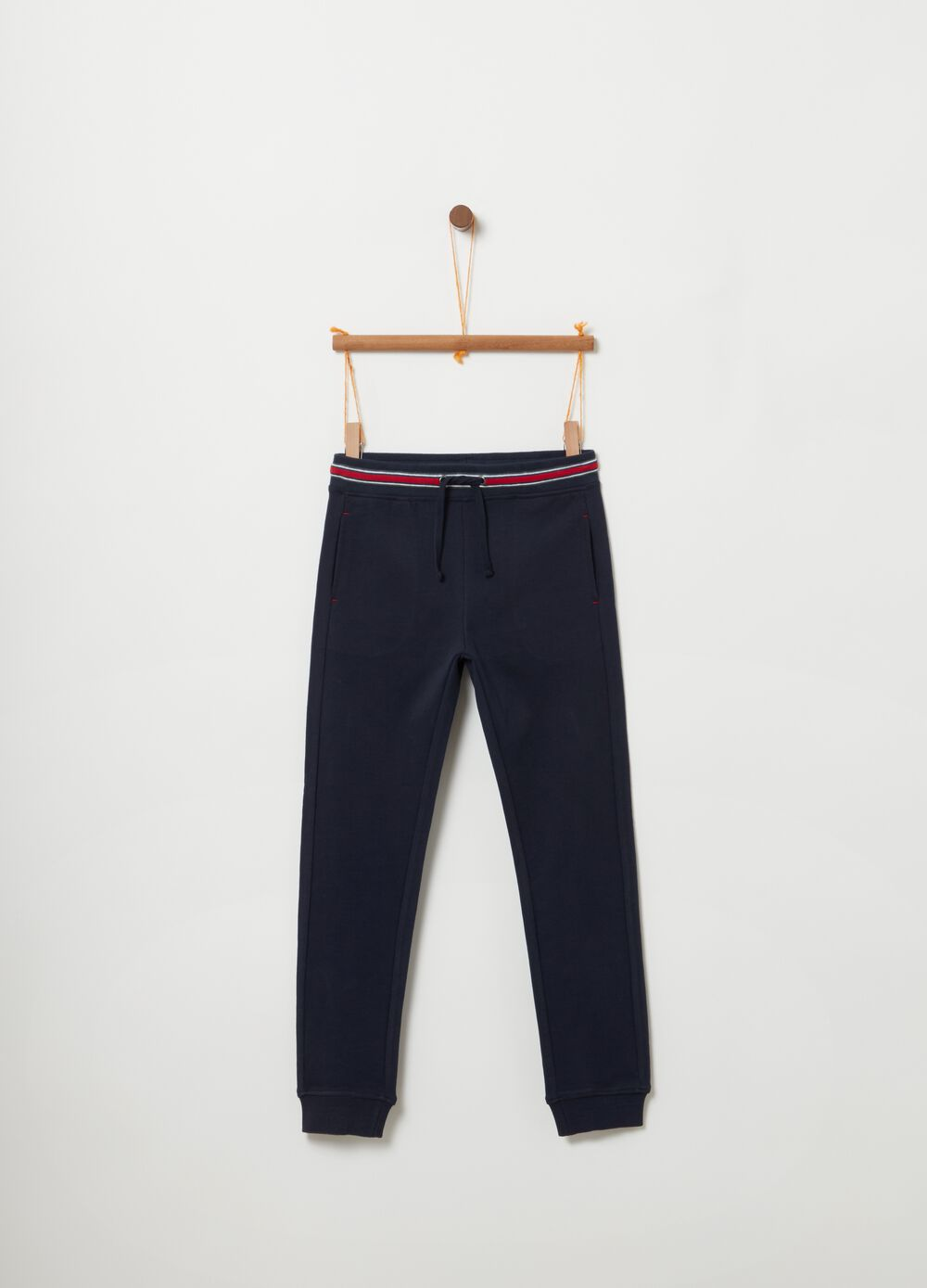 Pantaloni in French Terry con coulisse