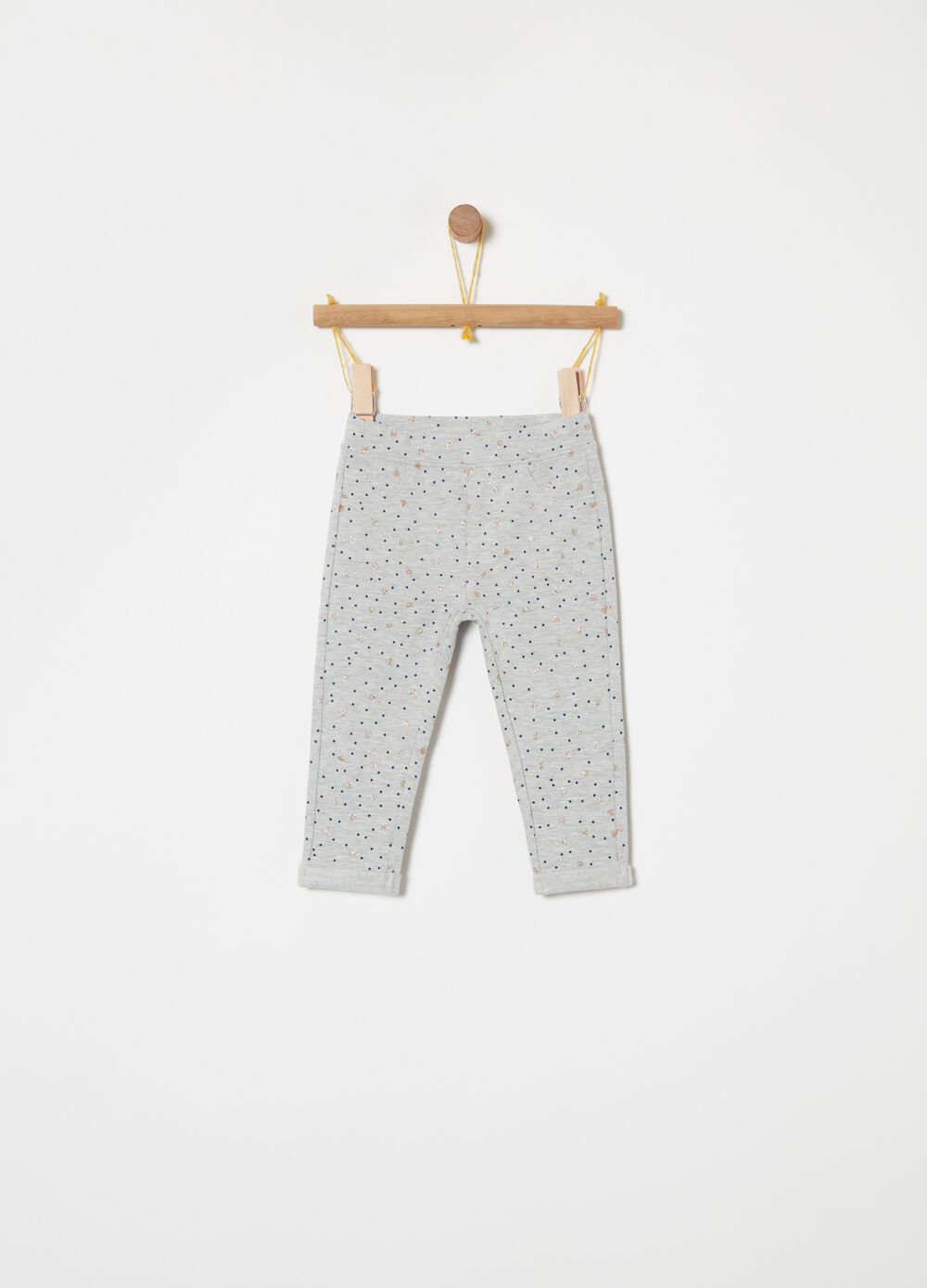 Fleece trousers with glitter pattern