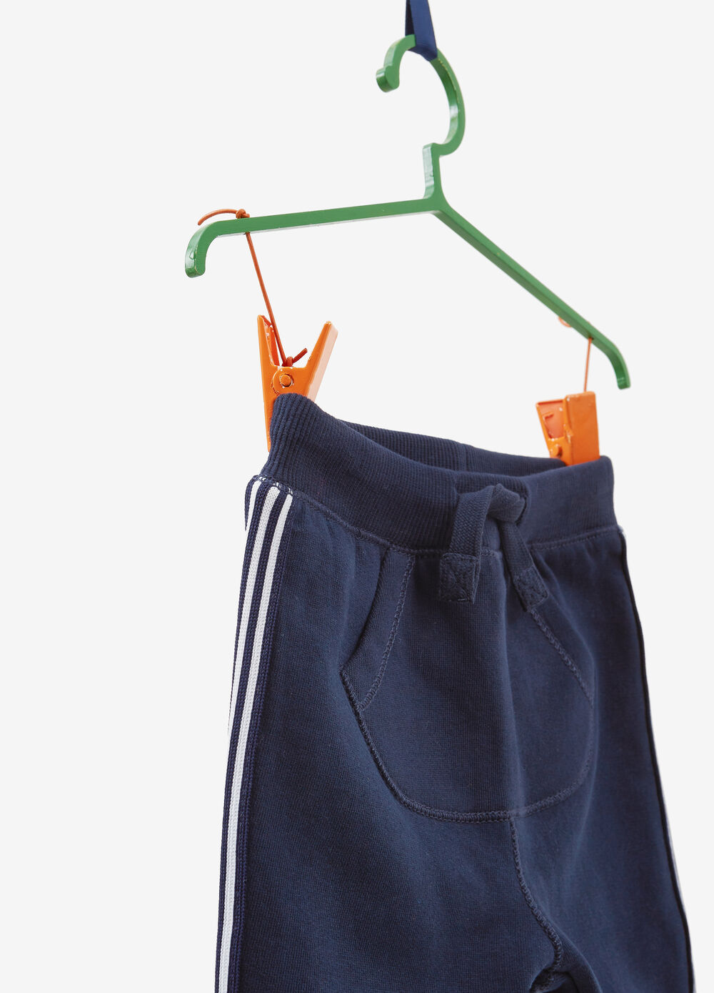 100% cotton trousers with side bands