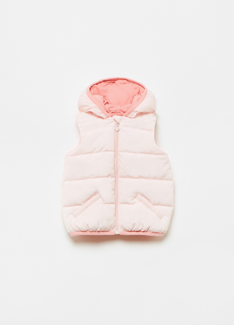 Full-zip padded and quilted gilet image number null