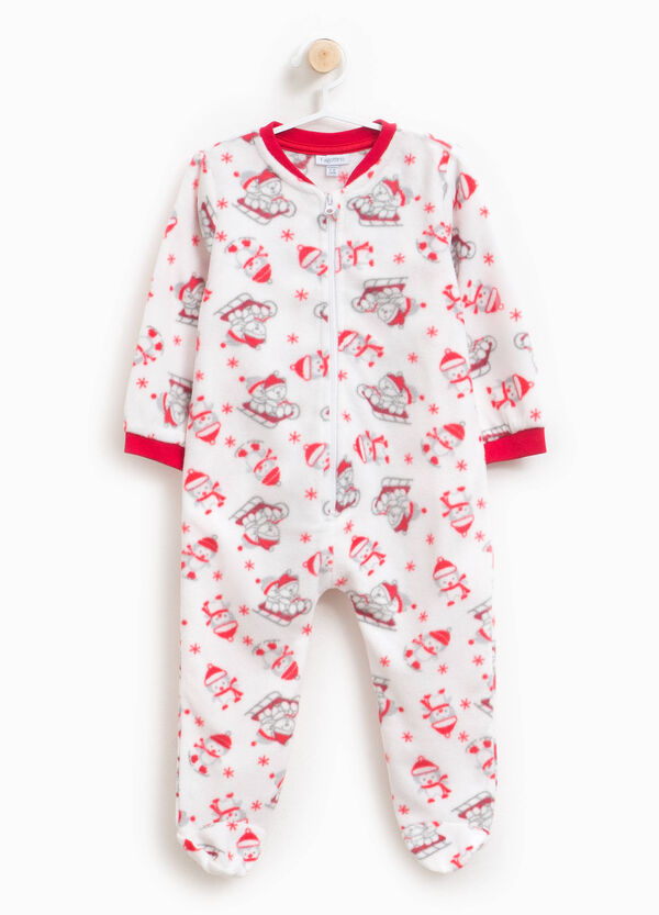 Christmas motif onesie with feet