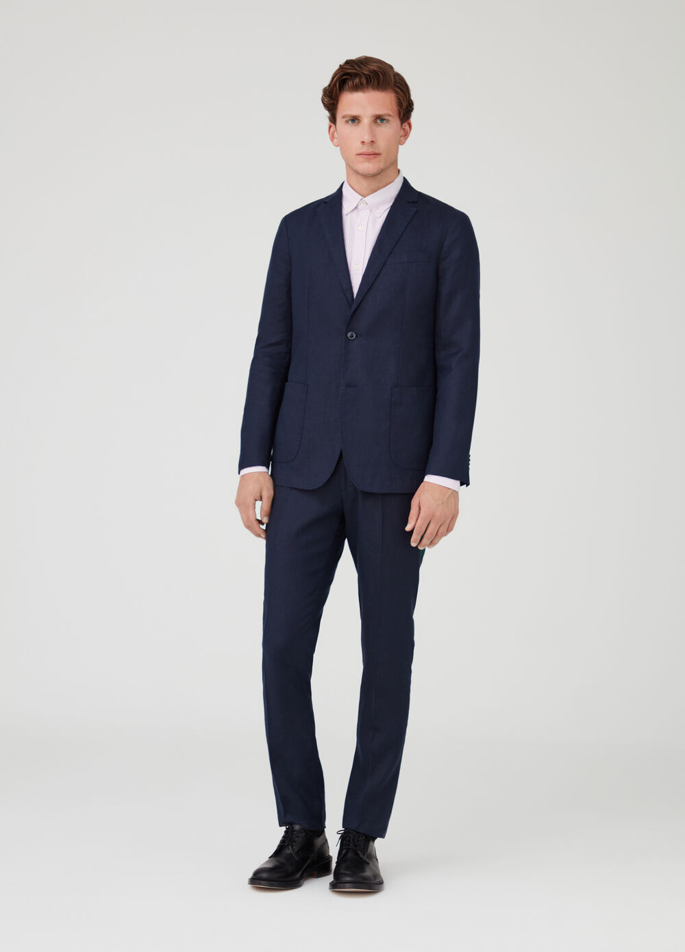 Two-button slim-fit blazer with pockets