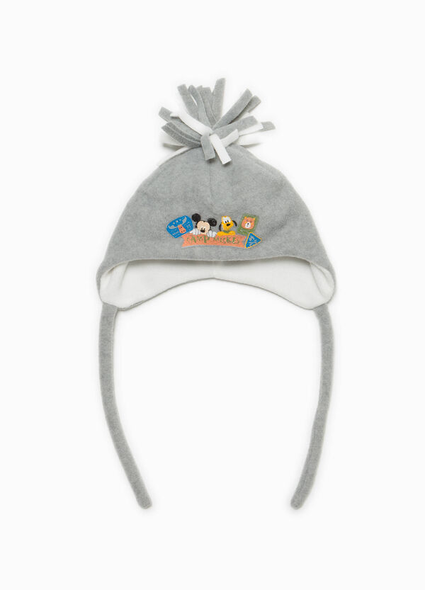 Mickey Mouse beanie cap with pompom