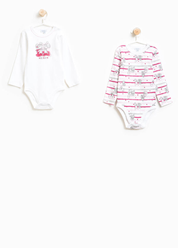 Two-pack Better Cotton bodysuits with pattern | OVS