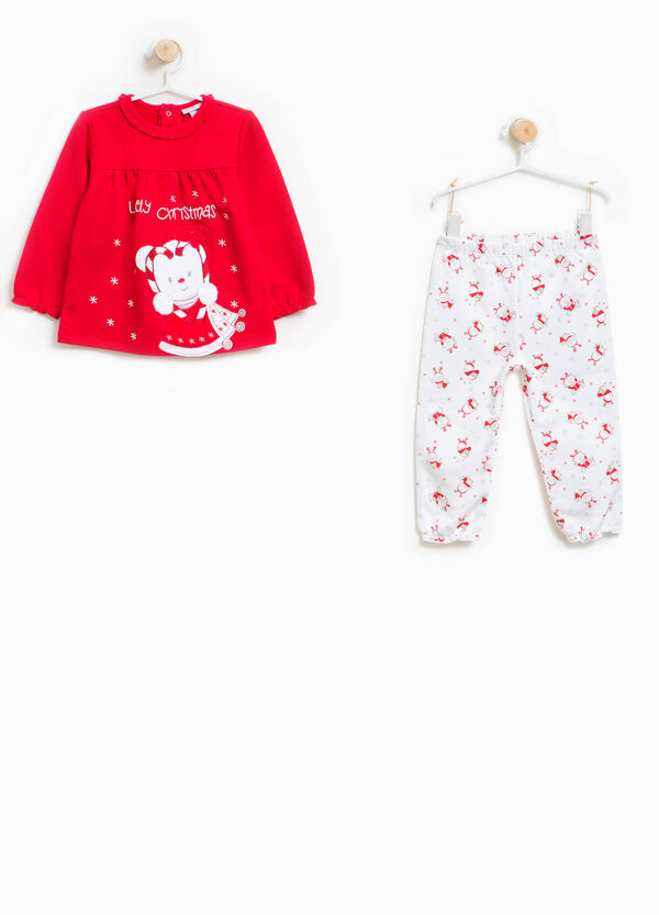 100% cotton pyjamas with Christmas print | OVS