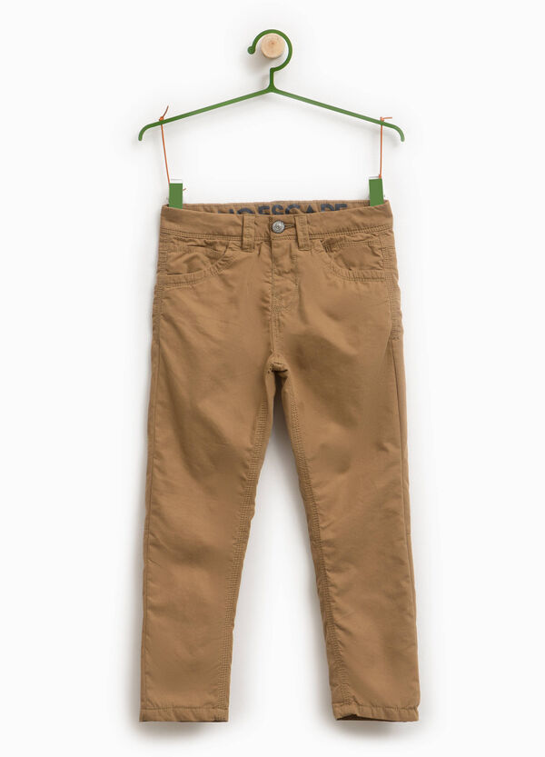 Cotton blend trousers.