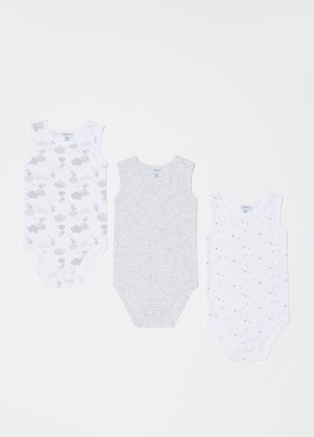 Three-pack of organic cotton and viscose bodysuits