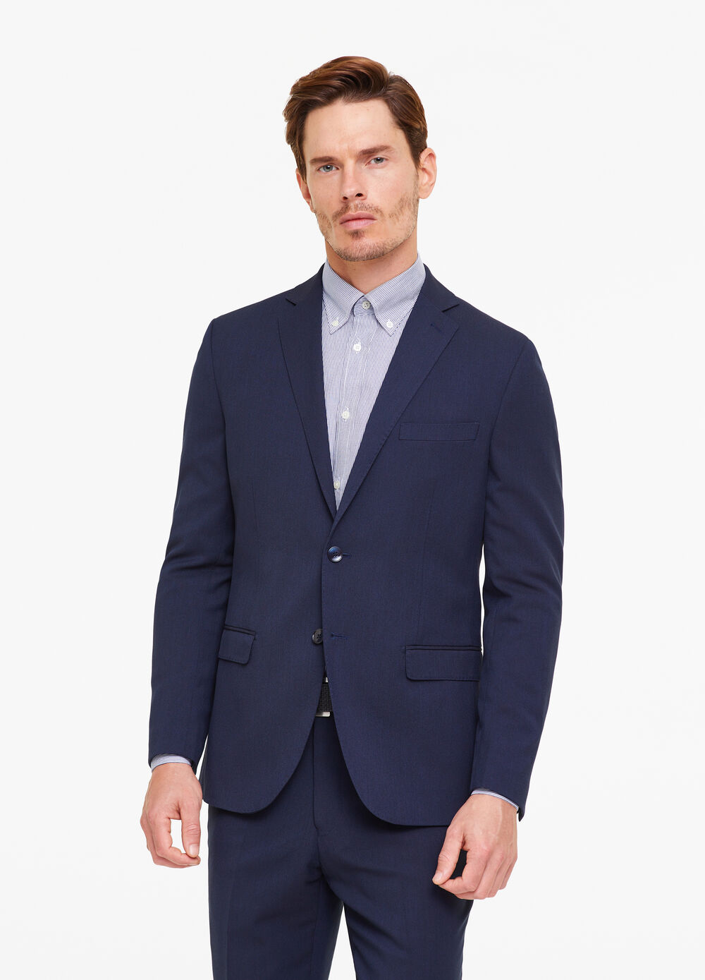 Elegant stretch jacket with two-button fastening