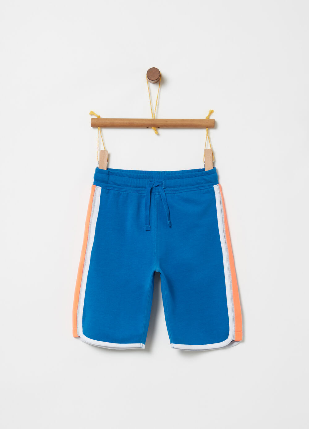 Shorts French Terry coulisse e inserti