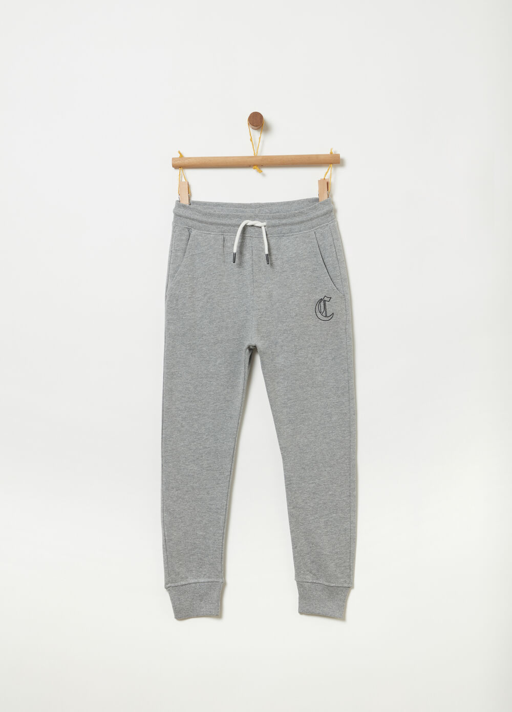 Slim-fit trousers with low crotch