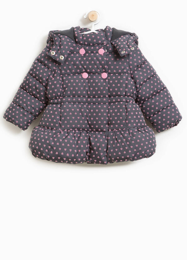 Heart patterned jacket with hood | OVS