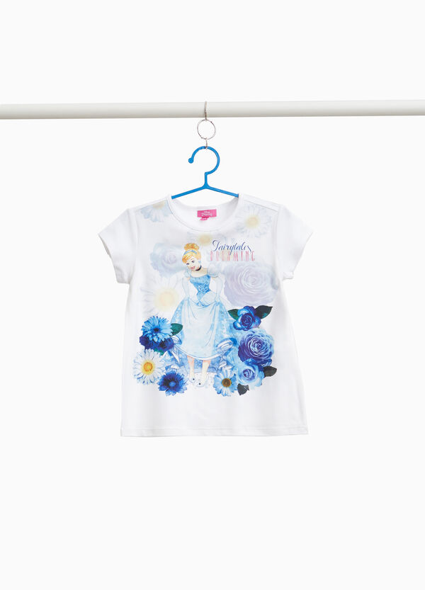 T-shirt with maxi Cinderella print