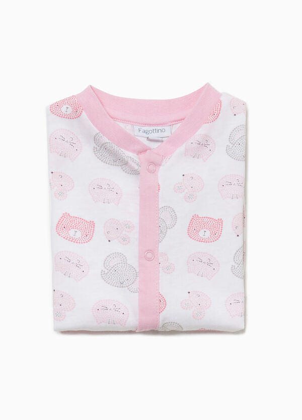 Animals sleepsuit in cotton