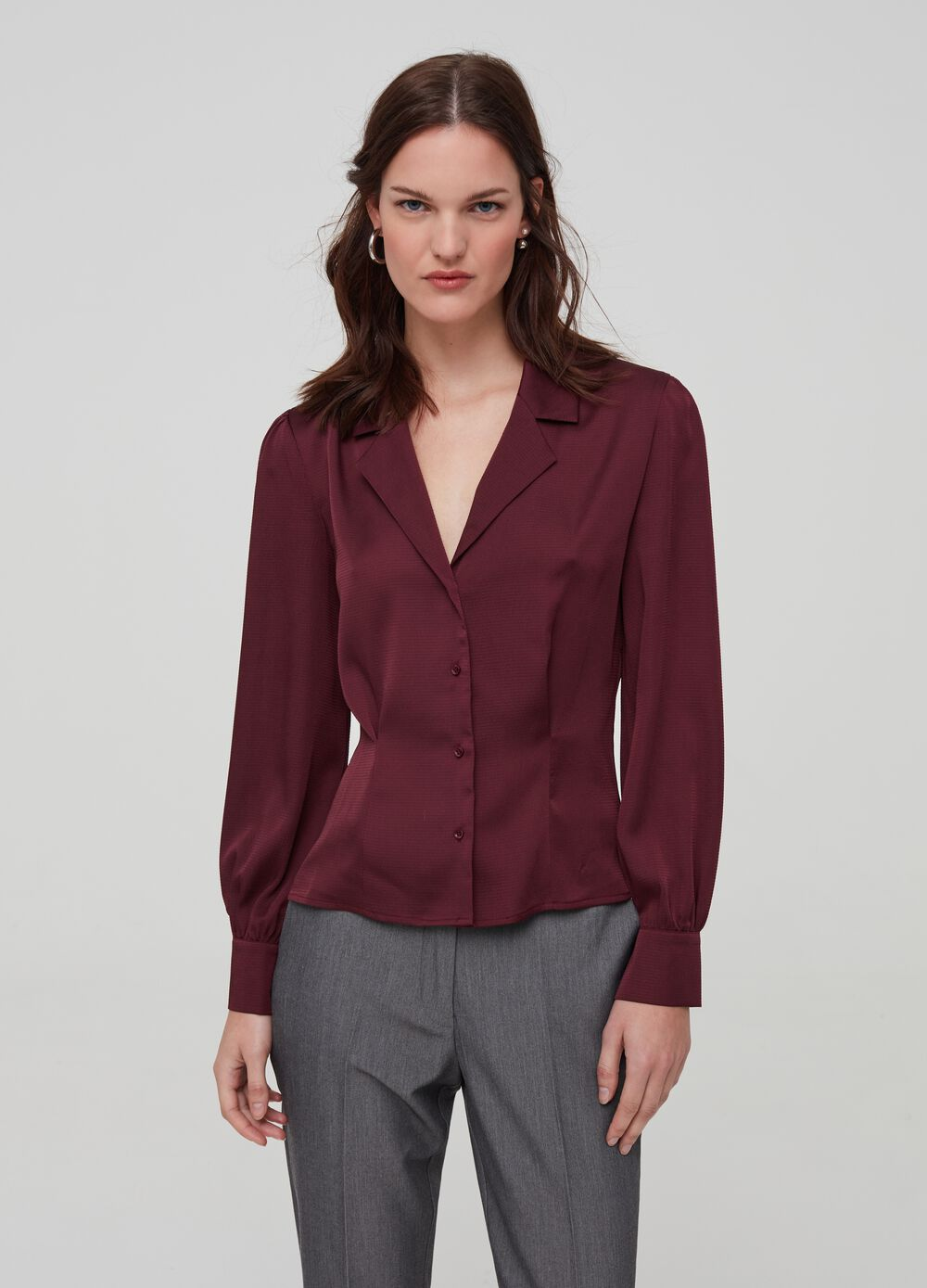 Fit & flare shirt with buttons