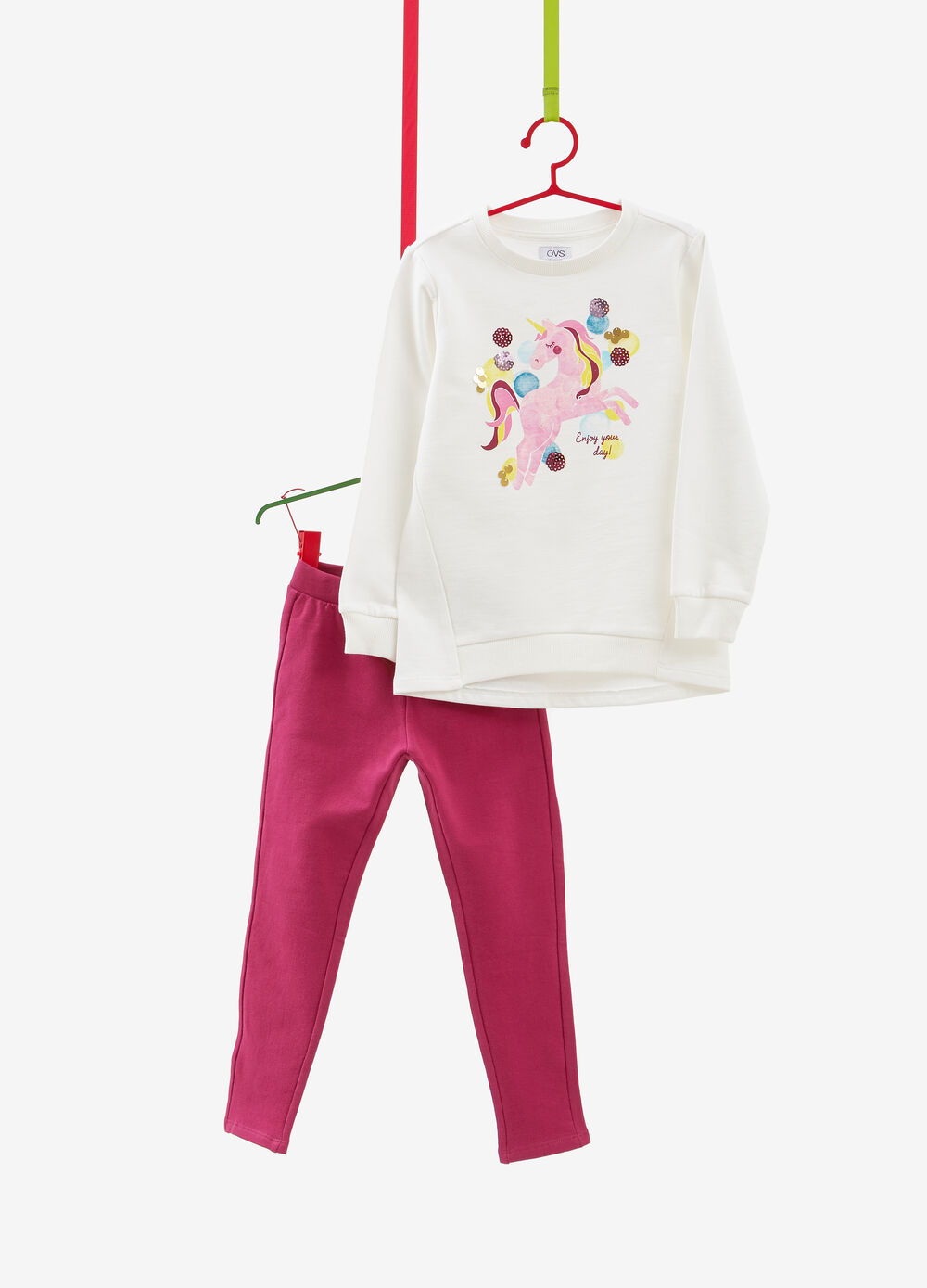 100% cotton tracksuit with unicorn print